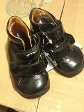 Baby Toddler Shoes Garvalin Leater Black Made In Italy Designer 18 New 3 4