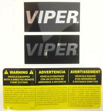 VIPER CAR ALARM WINDOW DECALS SECURITY STICKERS + REMOTE START EMBLEM AUTHENTIC