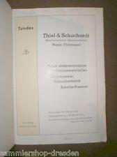 Thiel Schuchardt Ruhla Lampen Katalog der Fabrik elektrotechnischer Installation