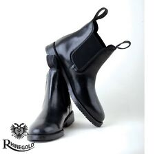 Rhinegold Childrens Classic Leather Jodhpur Boots – Size 5, BLACK **FREE P&P**
