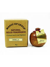 *5x6gm*Each Magic of India Natural Solid Perfume VANILLA Fragrance in Wooden Jar