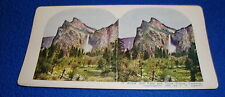 Vintage Stereoview Card Bridal Veil Falls and Three Graces 1903 Ingersoll