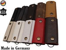 Schlüsseletui Hülle Schlüsseltasche echt Leder Etui Tasche Keycase Schutz Case