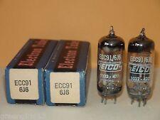2 Eico 6J6 ECC91 Vacuum Tubes  4100/3400  2880/3100