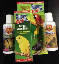 TRIO PARA PAJAROS DE JAULA/ CAGE BIRDS SUPER CAL D3, VIT E & FERTILITY