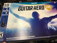 Guitar Hero Live Guitar and Game Bundle Wii U Guitar and Game Included Brand New