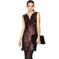 ICONIC BNWT 14 FRENCH CONNECTION RUST RED WINE SAM SEQUIN BODYCON PARTY DRESS