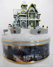 Music Box Victorian Christmas House Musical Lighted Thomas Kinkade Bradford MIB