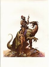 "1978 Full Color Plate ""Nomads of Gor"" by Boris Vallejo Fantastic GGA"