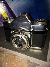 AWESOME VINTAGE CONTAFLEX CAMERA FROM GERMANY CARL ZEISS LENS