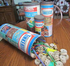 Large lot vintage 1960's Tinker Toys 4 cans