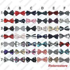 10x Pet Dog Cat Bow Neck Tie Designs - Adjustable Cute Necktie Ties Grooming