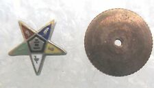 Vintage Order of the Eastern Star Tiny Lapel Pin-Masonic OES Screw Back
