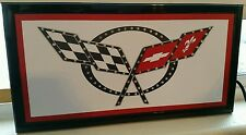 Corvette CHEVOLET led lighted sign shop Home Wall decor New in Box