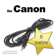 Shutter Release Extension Cable to fit Canon RS-60E3 Remote. 5 metres long lead.