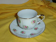 Gorgeous Pink Roses Tea Cup And Saucer Set. FTD Extra Touch Made in Japan