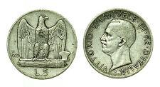 pcc1640_9) Italia regno Vittorio Emanuele III lire 5 aquilino 1929 **