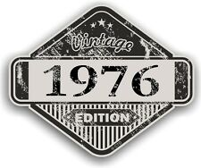Aged Distressed Vintage Edition Yr 1976 Retro Cafe Racer Motorcycle car sticker