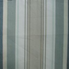 Bridgewater Spa Green Stripe Tailored Valance Lined Cotton Taupe Blue