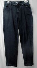 LEE Relaxed Fit Ladies' Stretch Cotton Denim Jeans-Blackened Wash-10-NWT-$40