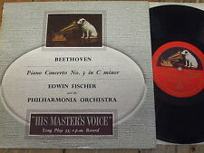 "BLP 1063 Beethoven Piano Concerto No. 3 / Fischer GRVD R/G 10"" LP"