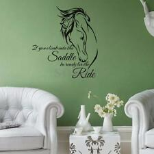 Horse Wall Decal Stickers Quote Saddle Ride Living Room Wall Home Decor Sayings