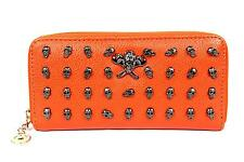 FreshGadgetz Youthful Skull Fashion Purse Wallet for Women Ladies - Orange