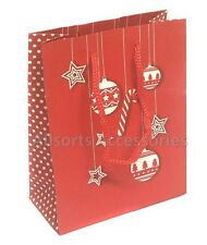 Pack of 12 Christmas Gift Bags Festive Wrapping Christmas Packaging Wholesale