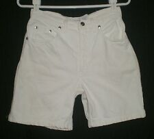 Canyon River Blues White Cotton Jeans Shorts Size Jrs 5 W:26 H:39 R:11 I:6.5