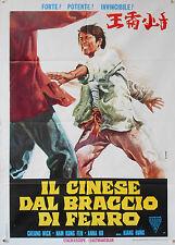 MANIFESTO, IL CINESE DAL BRACCIO DI FERRO, KIANG HUNG, EXPLOITATION, ORIENTE