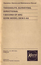 Kern DKM2-A - Operation, Service and Maintenance Manual