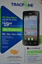 Tracfone LG Sunrise L15G Android Smartphone - Triple Minutes for Life!