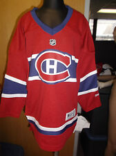 Reebok NHL Montreal Canadiens Little Kids Blank Jersey NWT 4-7