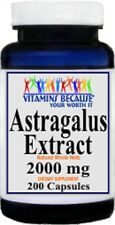 Astragalus Extract 2000 mg - 200 Capsules High Quality! Fresh!