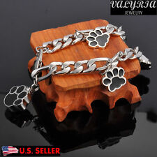 VALYRIA Black Dog Paw Cremation Jewelry Keepsake Memorial Pet Urn Bracelet 8.4''