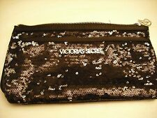 VICTORIA'S SECRET GLAM SEXY *BLACK* SEQUIN CLUTCH WRISTLET Handbag  NEW