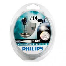 H4 PHILIPS Xtreme Vision 3700K Ultimate White Light Bulbs Headlamp