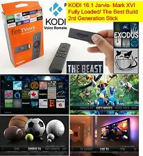 Fire TV Stick with Voice Remote JAILBROKEN, XBMC KODI 16.1, FULLY LOADED