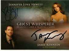 Ghost whisperer saisons 3 & 4 auto carte jlhjk jennifer hewitt & jamie kennedy