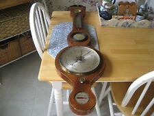 EARLY TO MIDDLE 1800S BAROMETER MADE INENGLAND WITH CONVEX MIRROR THEROMETER
