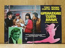 OPERAZIONE COSTA BRAVA fotobusta poster Roger Moore Tony Curtis Flying Firestone