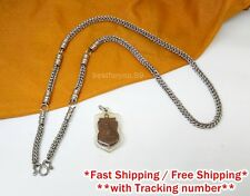"DISPLAY 5 HOOKS THAI BUDDHIST AMULET PENDANTS 28"" STAINLESS STEEL NECKLACE CHAIN"