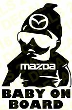 BABY ON BOARD Car Truck  Vinyl Decal Sticker for MAZDA
