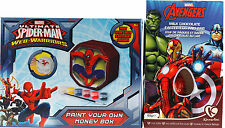 MARVEL Pasqua Regalo Set-vernice proprio Spiderman Money Box/uovo di cioccolato