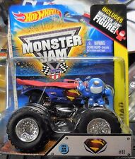 2014 Hot Wheels Monster Jam Truck Super Man With Figurine Man Of Steel