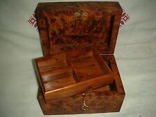 Jewerly Box Thuja Wood Locked With key