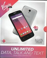 NIB! Virgin Mobile 4G LTE ALCATEL onetouch Elevate, Original, Sealed, Retail Box