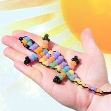 Hot 20Pcs Solar Pony Sun Rainbow Loom Beads Uv Color Changing Transparent Bands