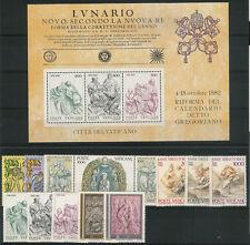 VATICANO - Giovanni Paolo II Annata completa 1982 (13 val. + 1 BF) **