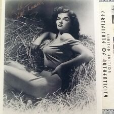 "Jane Russell SIGNED 8x10 Photo   ""The Outlaw""  Very Sexy in Haystack!!!  COA"